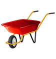 Wheel barrow vector image vector image
