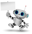 White Robot vector image vector image