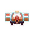 woman in back motorhome camping van isolated vector image