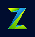 Z letter line colorful logo Abstract trendy green vector image