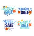 season sale collection of autumn discount vector image
