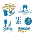 Oktoberfest logo set vector image