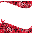 Abstract Flower Background With a Butterfly vector image