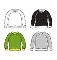 Abstract sweatshirts set sketch for your design vector image