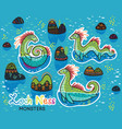 animals patch collection of loch ness monsters in vector image vector image