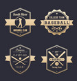 baseball club team logo badges emblems vector image vector image