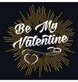 Be My Valentine starburst shape vector image