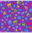 birthday seamless pattern in hand-drawn doodle vector image vector image