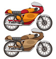 cafe racer motorcycle vector image