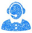 call center woman grunge icon vector image vector image
