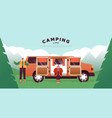 camping lifestyle template couple in home van vector image