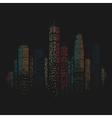 City Skyscraper Background vector image vector image