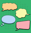 colored speech bubbles in comic book style blank vector image
