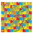 Colorfull Snake and Ladder Game vector image vector image