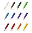 colour pencils vector image
