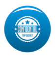 confidental logo simple style vector image