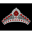 crown tiara woman vector image vector image