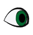 eye look watch vision optical icon vector image