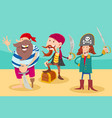 fantasy pirate characters cartoon vector image