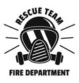 firefighter mask logo simple style vector image