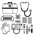 first aid kit equipment vector image vector image