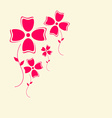 Flowers Retro Flat Design Background vector image
