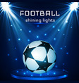 football ball soccer ball on blue background in vector image vector image