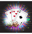 Gambling background vector image