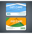 gift cards in the style of the material design vector image vector image