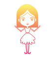 Girly fairy without wings and mushroom hairstyle vector image