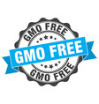 gmo free stamp sign seal vector image vector image