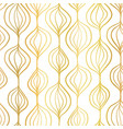 gold foil abstract organic ornamental vertical vector image vector image