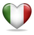 heart shape italy insignia isolated on white vector image vector image