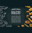 horizontal posters with bread on dark vector image