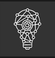 innovation process chalk icon vector image