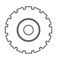 isolated gear part design vector image