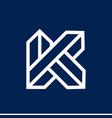 letter k initial logo vector image
