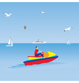 Man on a jet ski Water sports Summer vacation vector image vector image
