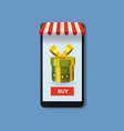 mobile online store concept smartphone holiday vector image