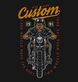 motorcycle colorful vintage emblem vector image vector image