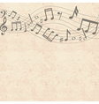 Old cardboard texture with music notes border