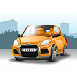 orange car in cartoon style vector image vector image