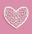 ornamental heart with lace pattern vector image