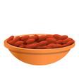 peanuts plate icon cartoon style vector image vector image