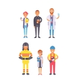 People professions set vector image vector image