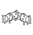 playground kids crawl tube vector image