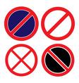 prohibition no symbol sign ban vector image vector image