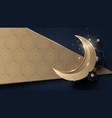 ramadan kareem gold moon and abstract luxury gold vector image vector image