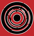red black circular abstract background vector image vector image