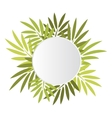 Round banner with leaves vector image vector image